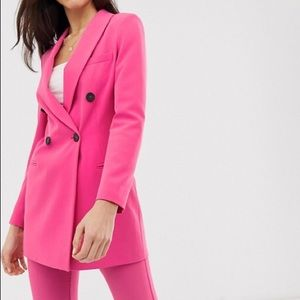 Stadivarius pink blazer